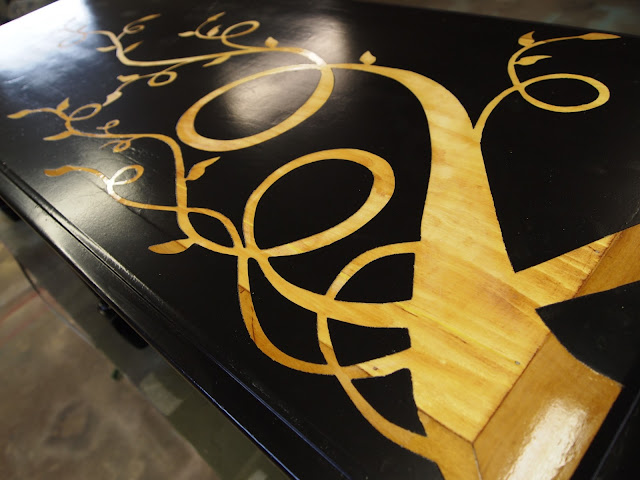 how to make wood grain lacquer ps