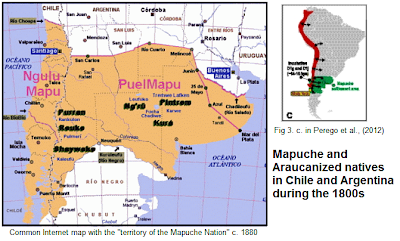 map of the Mapuche territory