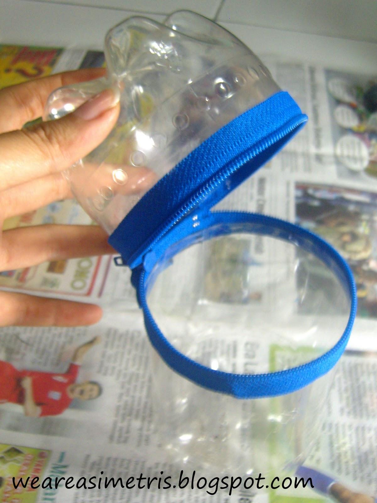 tempat pensil dari botol plastik bekas,,