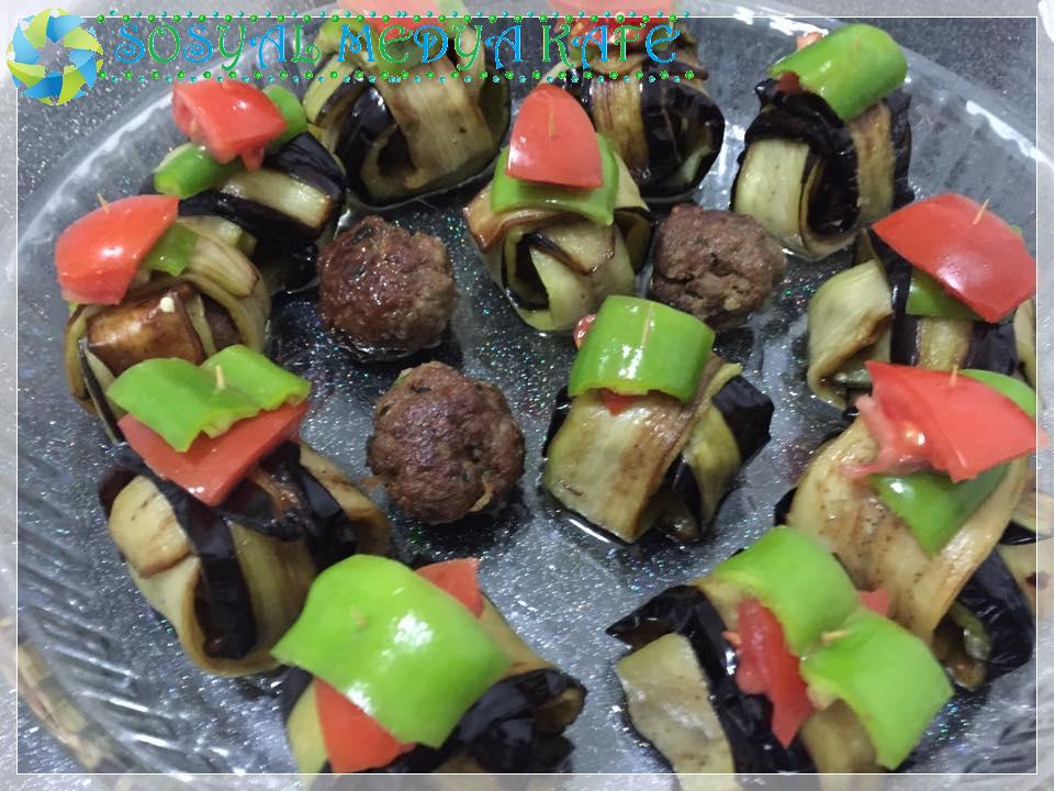 köfteli islim kebabı (kürdan kebabı -patlıcanlı bohça kebabı) tarifi