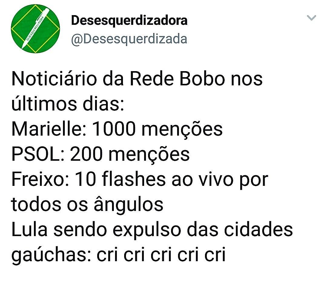 O PSol e a Rede Globo