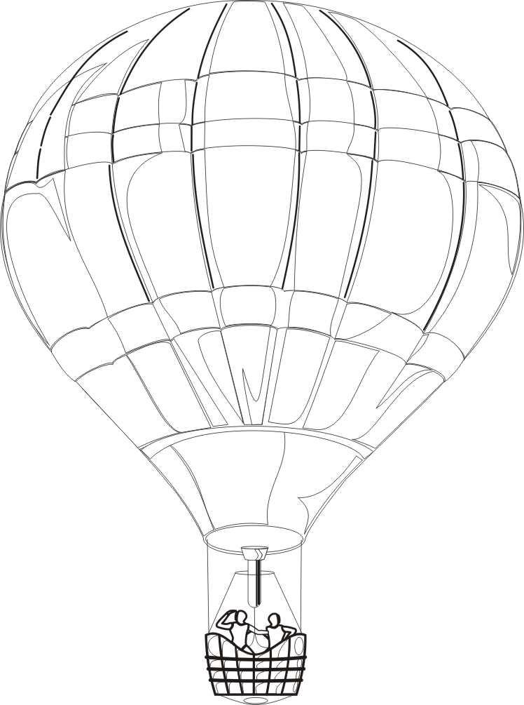 Imgenes gratis para colorear globo aerosttico  Foto Montajes de
