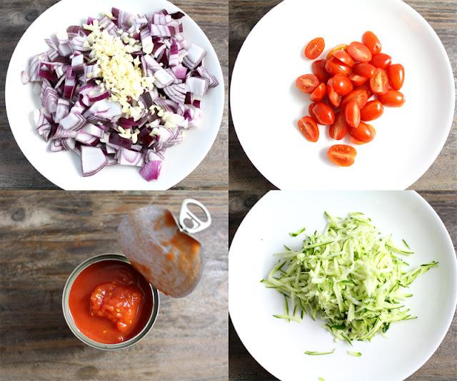 Oppskrift Fylt Paprika Gratinert Veganmat Vegetarmat Middag Ovnsbakt Løksaus Veganost Tomatsaus