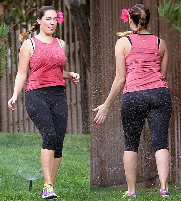 Kelly Brook is still look anything on getting in shape, especially for those vocabulary of flower as she went for a vigorous workout at Los Angeles on Wednesday morning.