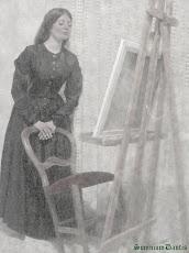 'Elizabeth Siddal', D.G. Rossetti (ca. 1861).