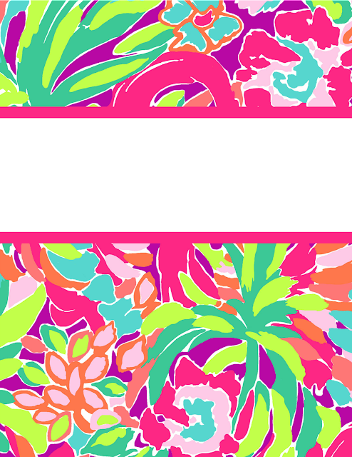 Bright image throughout lilly pulitzer printable binder covers