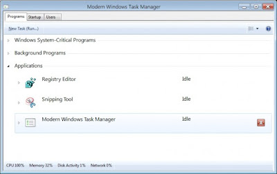 window 8 - touch task manager