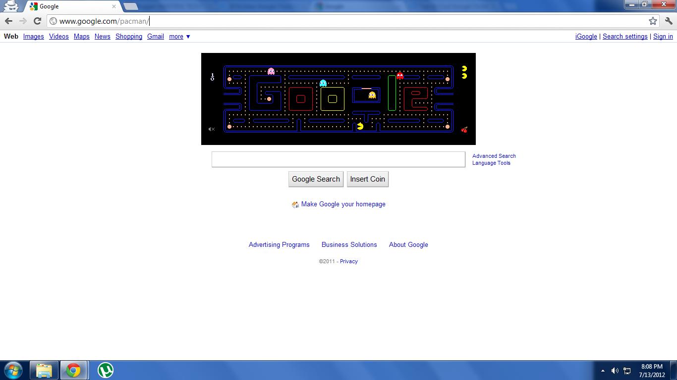 Google themes pacman - 3 Pacman On Google