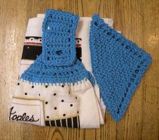 "Simple ""Granny Round"" Crocheted Dishcloth"