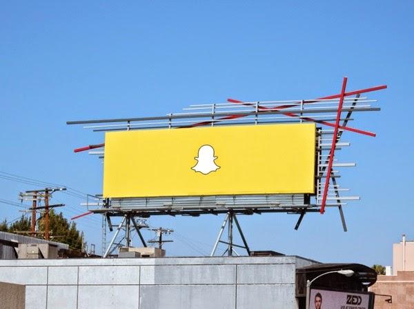 Snapchat ghost logo billboard