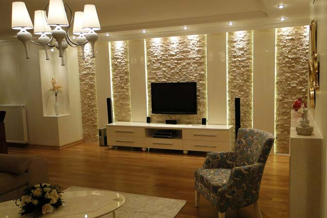 le m r de pierres en salon id e d co. Black Bedroom Furniture Sets. Home Design Ideas
