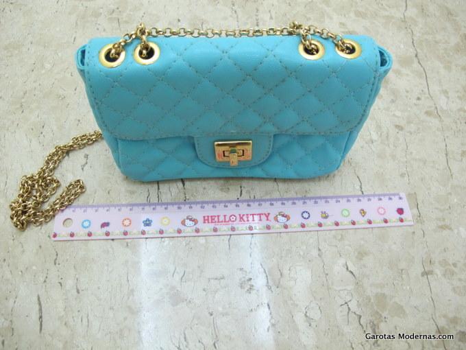 Bolsa Feminina Azul Turquesa : Desapegos do gm bolsa azul turquesa