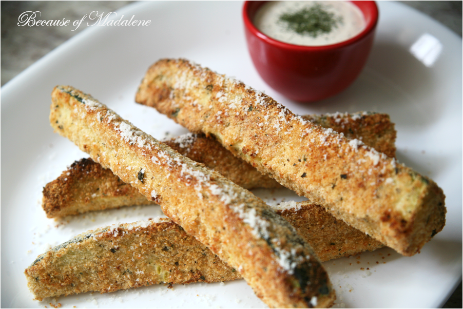 Because of Madalene: GF Baked Zucchini Sticks