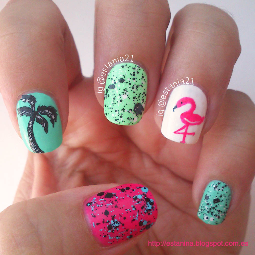 Tropical Nail Art Designs