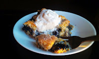 Egg Free Blueberry Cobbler