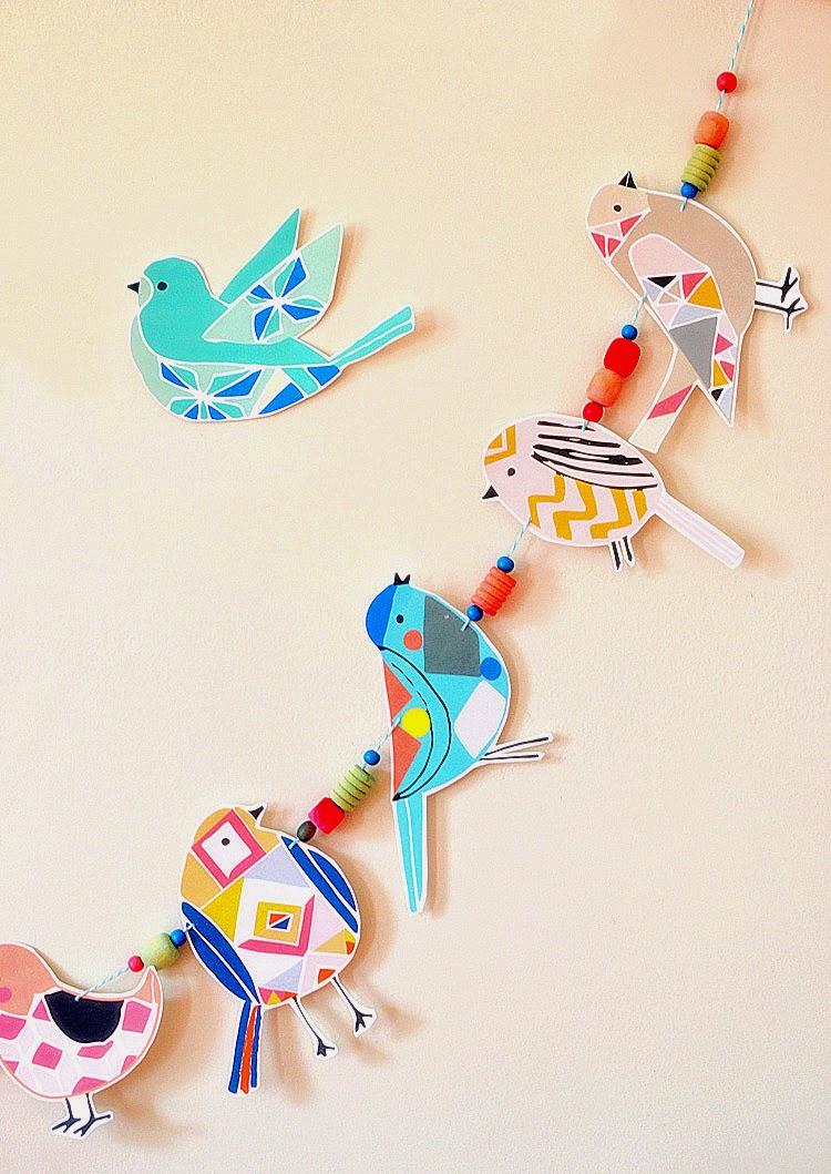 http://www.artbarblog.com/create/diy-bird-garland/