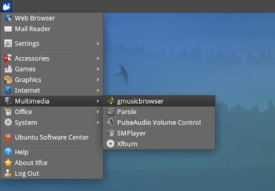 Xubuntu 12,04 рабочий стол