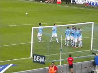 Park Chu Young celebra su primer gol con el Celta de Vigo
