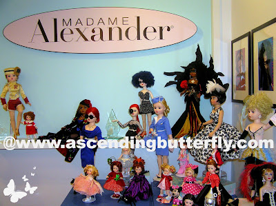 Collection of Madame Alexander Dolls on Display in their new midtown manhattan new york city headquarters kahn lucas
