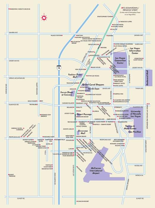 Mapa de Las Vegas – USA