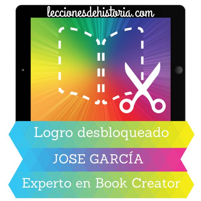 Insignia ganada con Book Creator