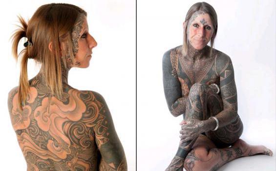 Tato itu dibuat Jacqui sebagai perayaan perceraiannya tahun 2003 silam ...