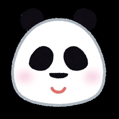 パンダの顔のイラスト