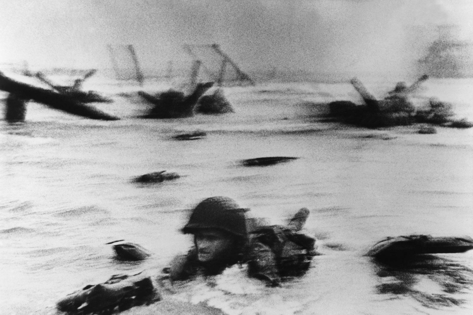 Soldado de primera clase Huston S. Riley. Desembarco de Normandia. 1944