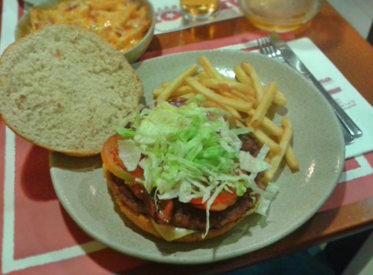 Hamburguesa con Queso y Bacón