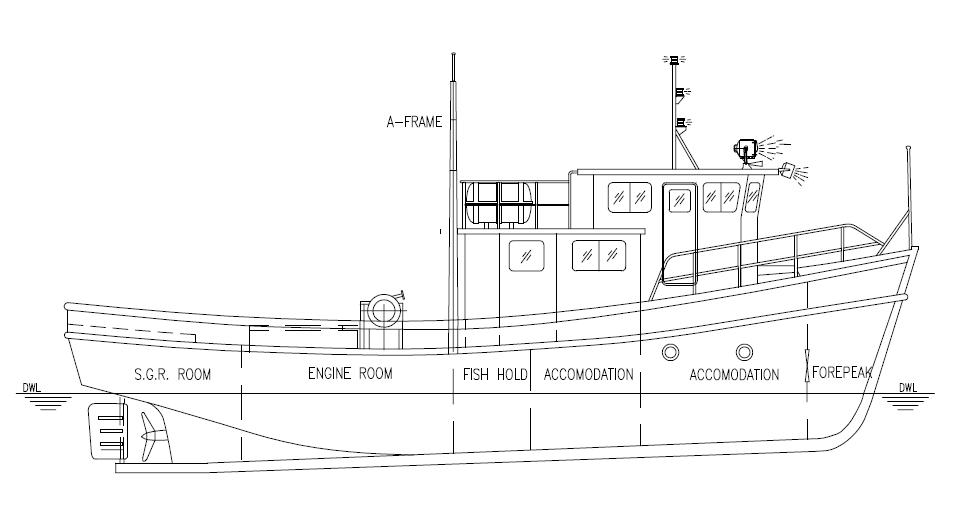 boat design and marine consultancy grp fishing boat