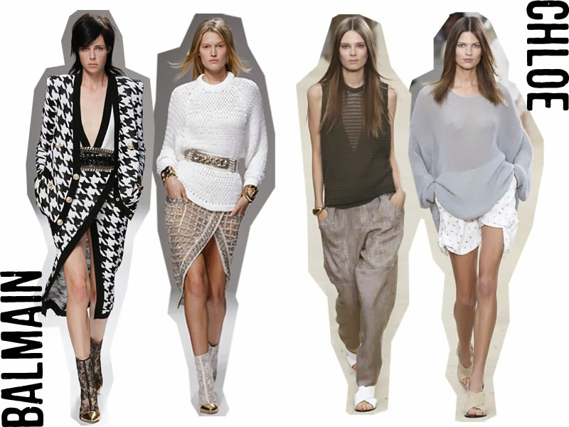 BALMAIN CHLOE SPRING SUMMER DESIGNER RUNWAY 2014 FASHION WEEK