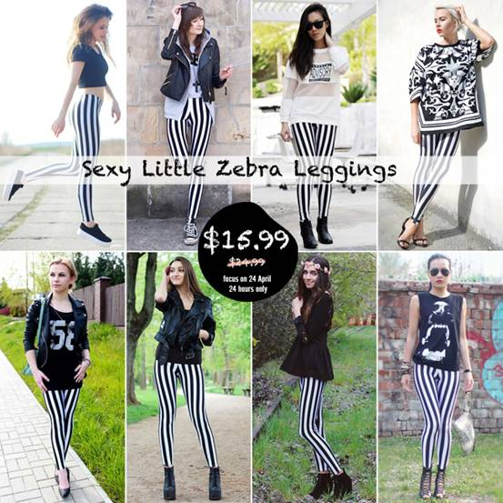 Little Zebra Leggings Big Sale