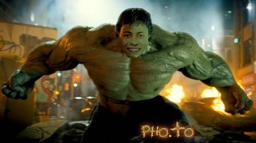 Montagem de fotos com Incrível Hulk
