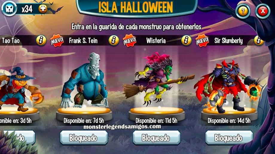imagen de las segunda misiones de la isla halloween de monster legends