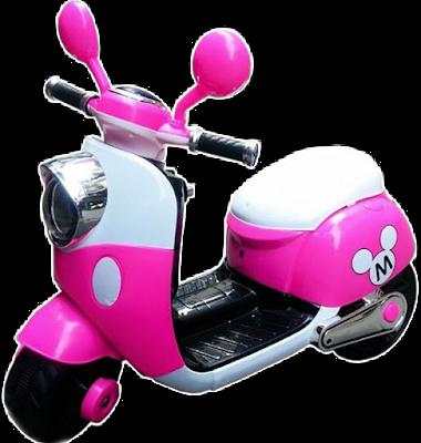 Xe máy điện trẻ em 6688 - Xe Vespa Mickey