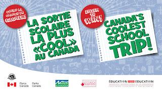 "Image of Canada's Coolest School Trip logo with text ""Enter to win Canada's Coolest School Trip"""