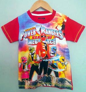 Baju Anak Karakter Power Rangers Dream Kids Size 2 - 12 Tahun