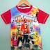 Baju Anak Karakter Power Rangers Size 2 - 12 Tahun