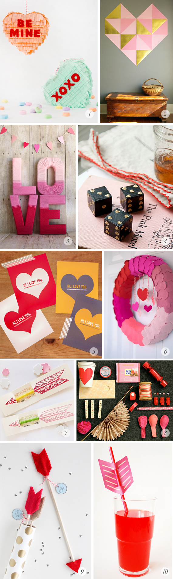 10 Great Valentine's Day DIY Projects // Bubby and Bean