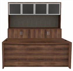 AM-390N Desk and Credenza Set by Cherryman