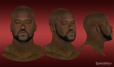 NBA 2K13 Shaquille O'Neal Cyberface Mod