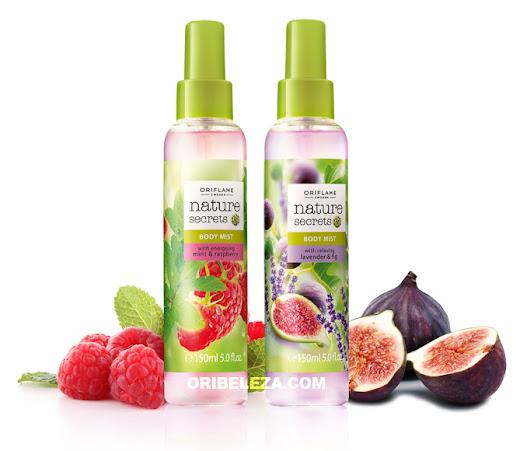 Sprays Corporais Nature Secrets da Oriflame