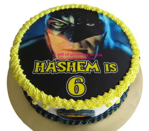 Birthday Cake Edible Image Batman