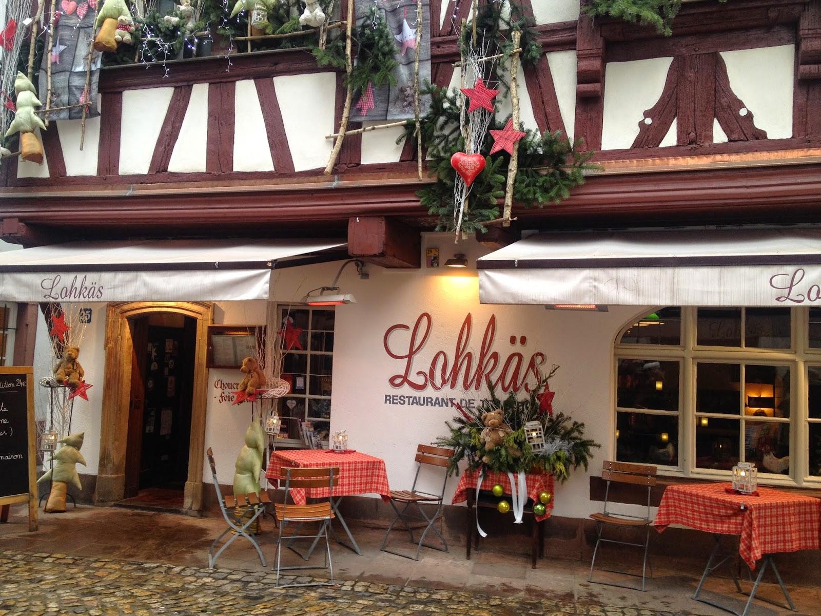 Restaurant in La Petite France, Strasbourg, France