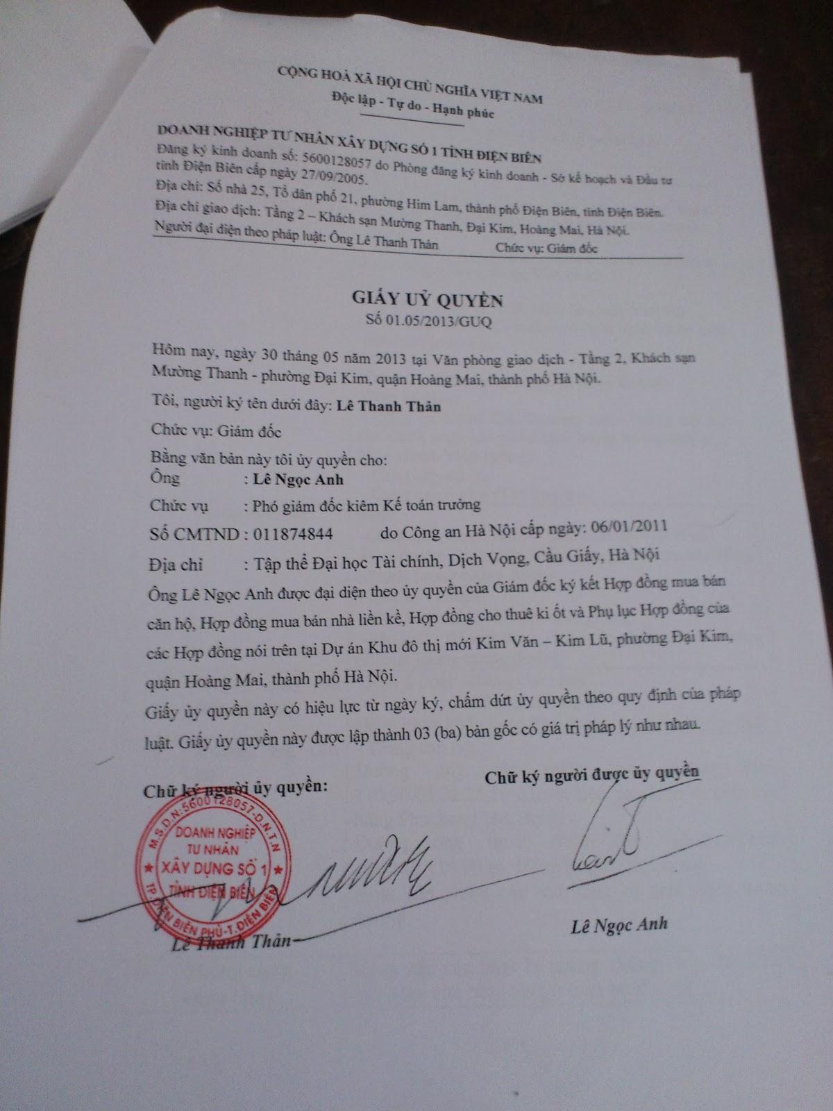 Hợp Đồng Mua Bán Kim Văn Kim Lũ CT12