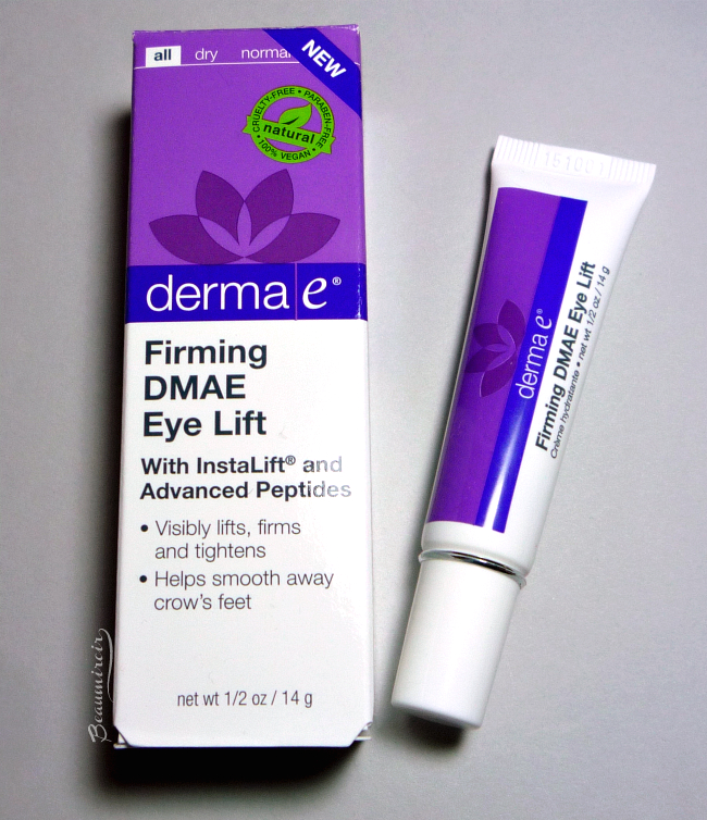 Firming DMAE Eye Lift review, photos, swatches