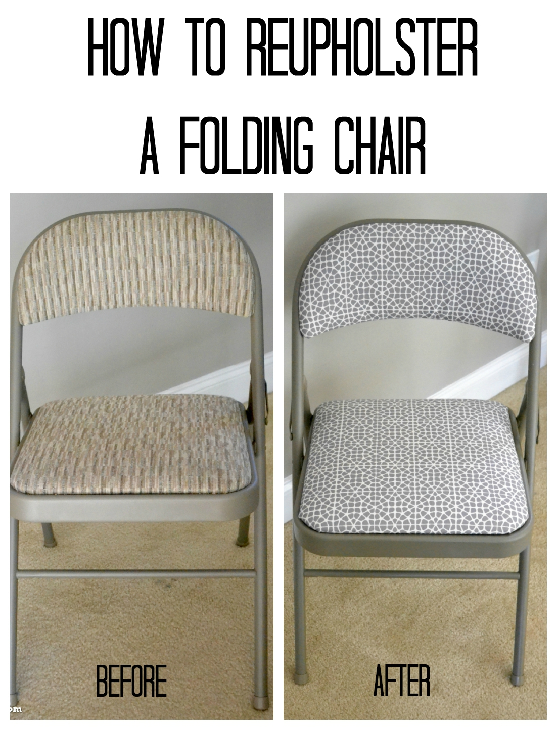 Reupholstering Folding Chairs With Minted Fabric #Ad
