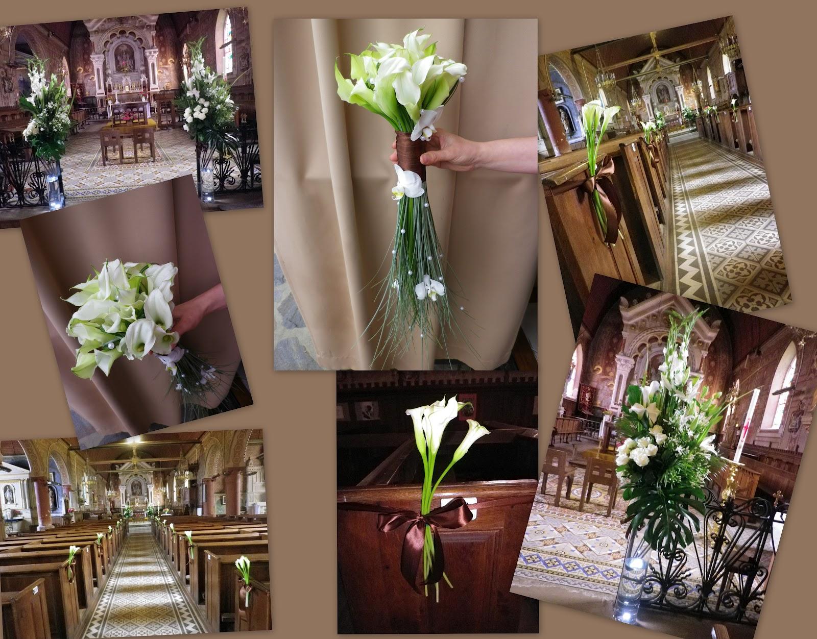 Mariage du 7 juillet décoration d'église et bouquet de mariée