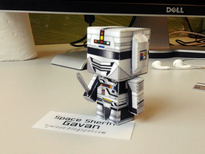 Space Sheriff Gavan Papercraft