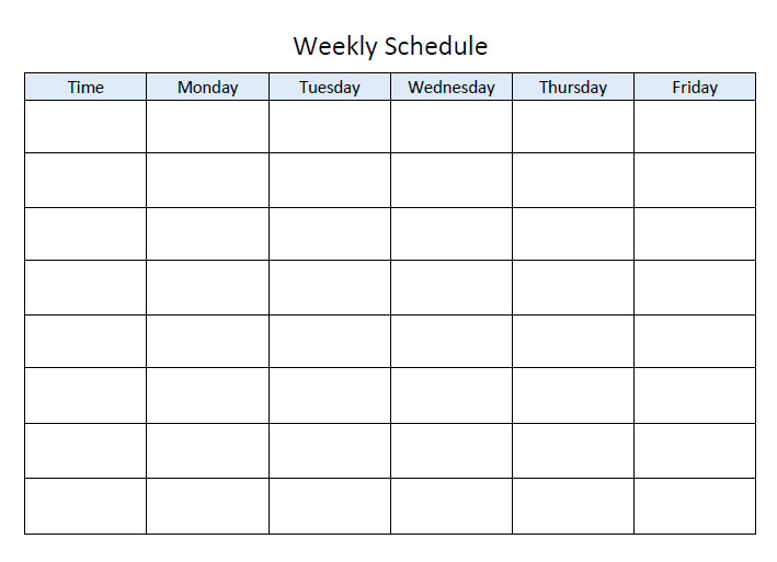 Search Results For Weekly Planner Template Monday Friday
